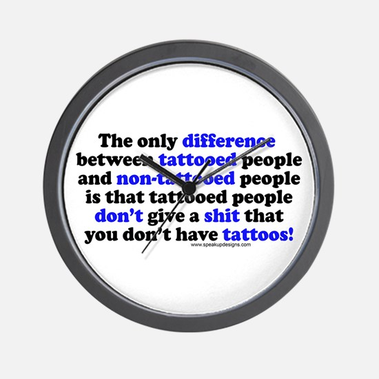 Tattooed People Difference V2 Wall Clock