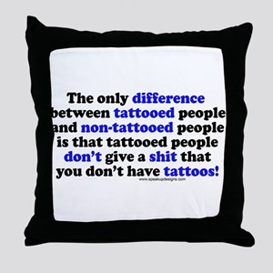 Tattooed People Difference V2 Throw Pillow