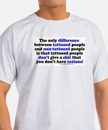 Tattooed People Difference V2 Ash Grey T-Shirt
