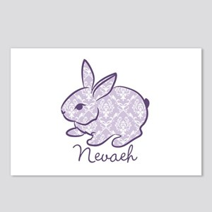 Purple chic bunny Postcards (Package of 8)
