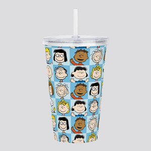 Peanuts Back to School Pattern Acrylic Double-wall