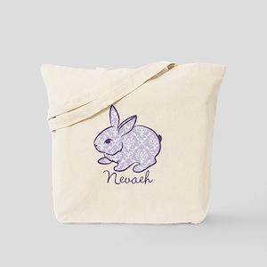 Purple chic bunny Tote Bag