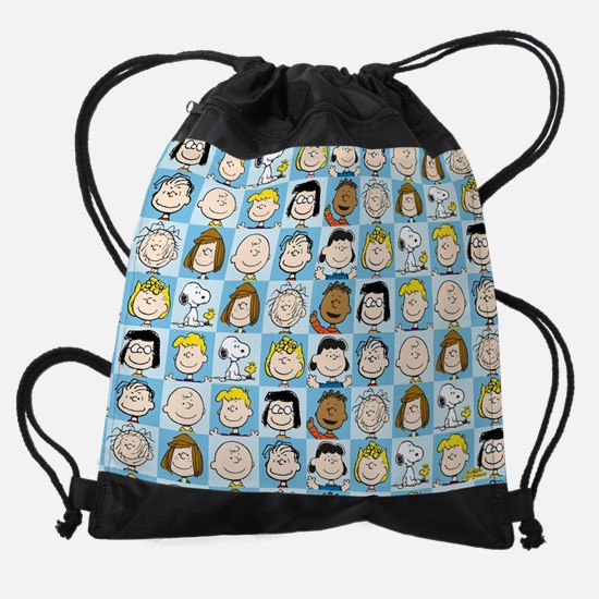 Peanuts Back to School Pattern Drawstring Bag