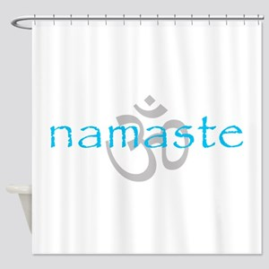 Om Namaste Shower Curtain