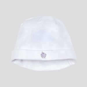 Purple chic bunny baby hat