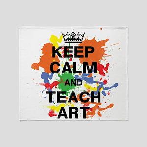 Keep Calm Teach Art Throw Blanket