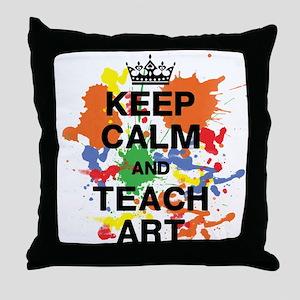Keep Calm Teach Art Throw Pillow