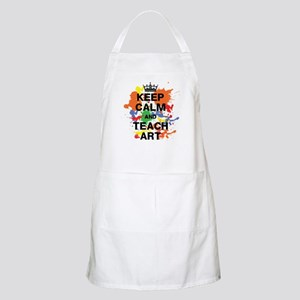 Keep Calm Teach Art Apron
