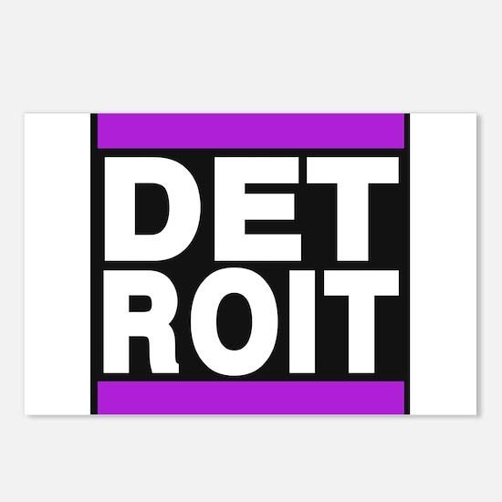 detroit purple Postcards (Package of 8)