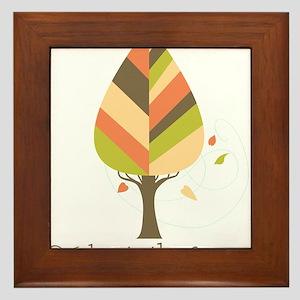 Celebrate Fall Season Tree Framed Tile