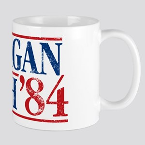 Distressed Reagan - Bush '84 Mug