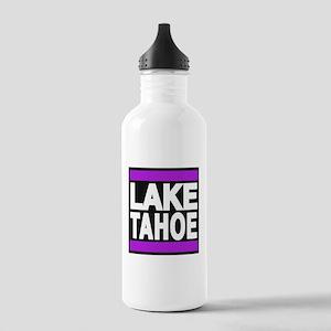 lake tahoe purple Water Bottle