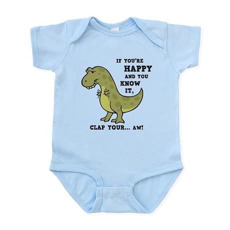 T-Rex Clap II Infant Bodysuit