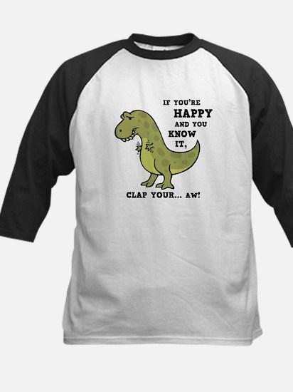 T-Rex Clap II Kids Baseball Jersey
