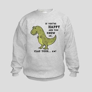 T-Rex Clap II Kids Sweatshirt