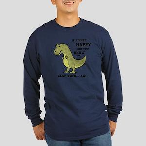 T-Rex Clap II Long Sleeve Dark T-Shirt