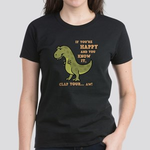 T-Rex Clap II Women's Dark T-Shirt