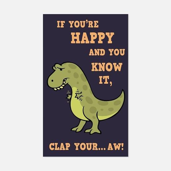 T-Rex Clap II Sticker (Rectangle)