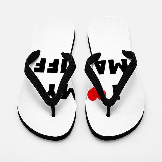 i luv my mastiff Flip Flops