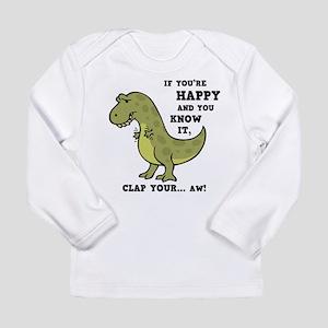T-Rex Clap II Long Sleeve Infant T-Shirt