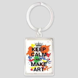 Keep Calm and Make Art Portrait Keychain