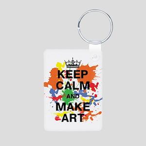 Keep Calm and Make Art Keychains