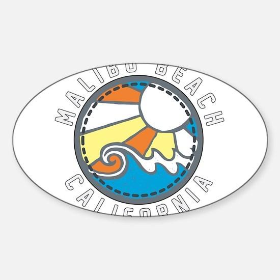 Malibu Wave Badge Decal