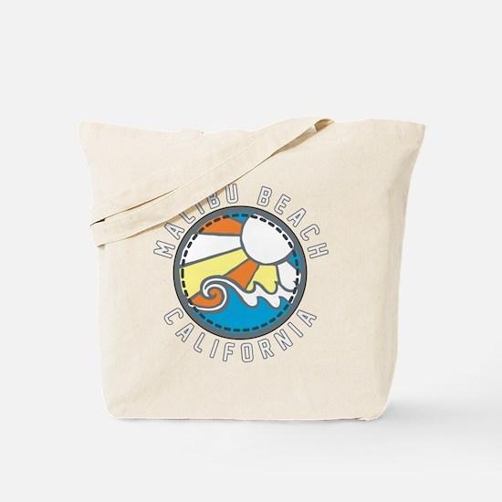 Malibu Wave Badge Tote Bag