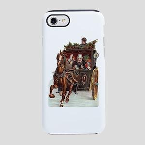 Christmas Horse & Wagon iPhone 7 Tough Case