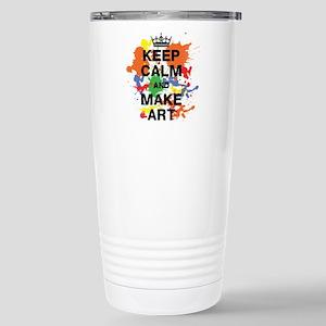 Keep Calm and Make Art Travel Mug