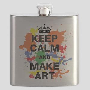 Keep Calm and Make Art Flask