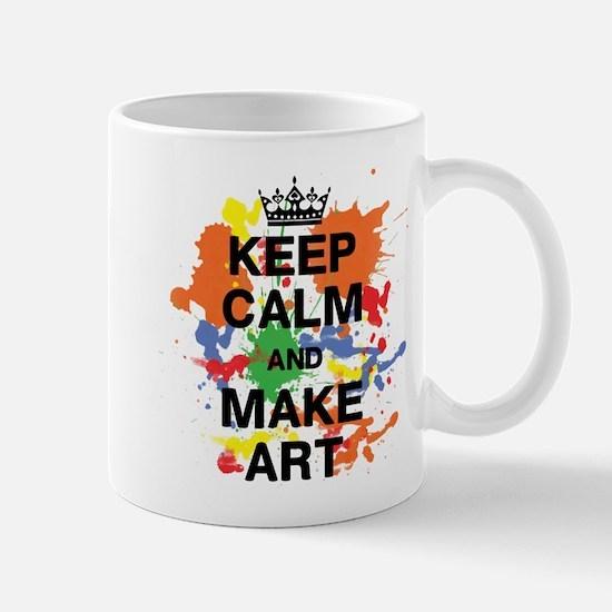 Keep Calm and Make Art Mug