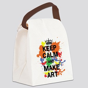 Keep Calm and Make Art Canvas Lunch Bag