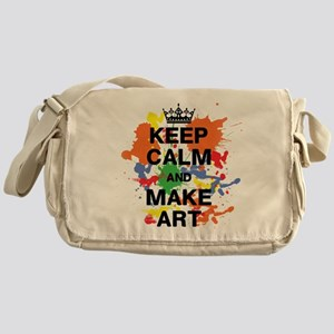 Keep Calm and Make Art Messenger Bag