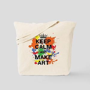 Keep Calm and Make Art Tote Bag