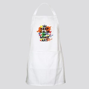 Keep Calm and Make Art Apron
