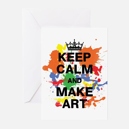 Keep Calm and Make Art Greeting Cards (Pk of 20)
