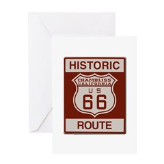 Chambliss Route 66 Greeting Card