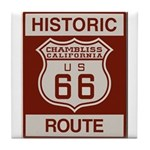 Chambliss Route 66 Tile Coaster