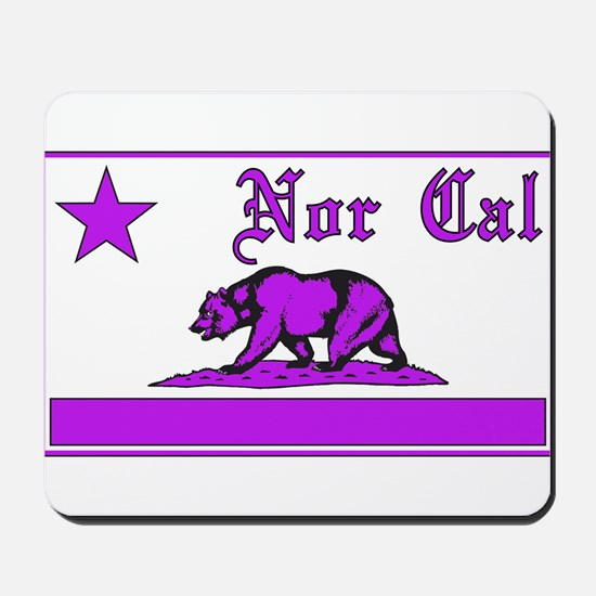 nor cal bear purple Mousepad