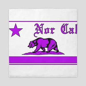 nor cal bear purple Queen Duvet
