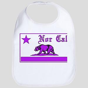 nor cal bear purple Bib