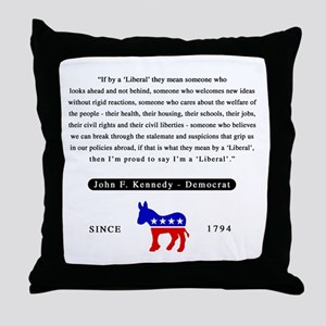 J.F.K. Throw Pillow