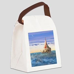 Brendan's Boat Canvas Lunch Bag
