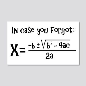Quadratic Formula Reminder Wall Decal