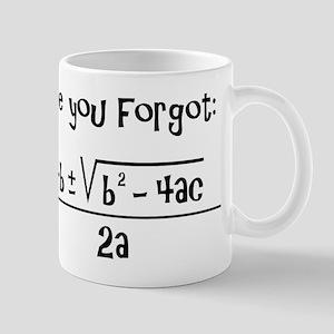 Quadratic Formula Reminder Mugs