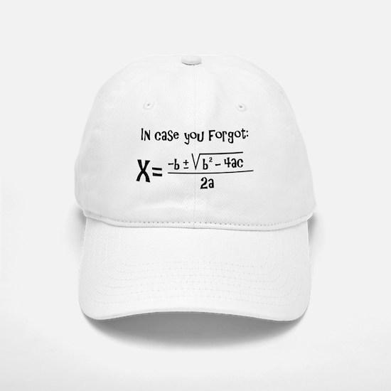 Quadratic Formula Reminder Baseball Baseball Baseball Cap