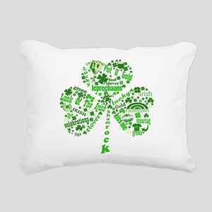 Irish Shamrock Rectangular Canvas Pillow