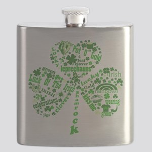 Irish Shamrock Flask