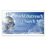 World Outreach Church Sticker